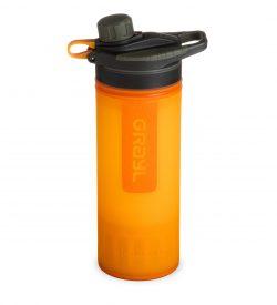 visibility orange geopress filter water purifier bottle
