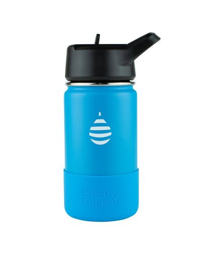 Clearly Filtered Junior Water Bottle Charcoal